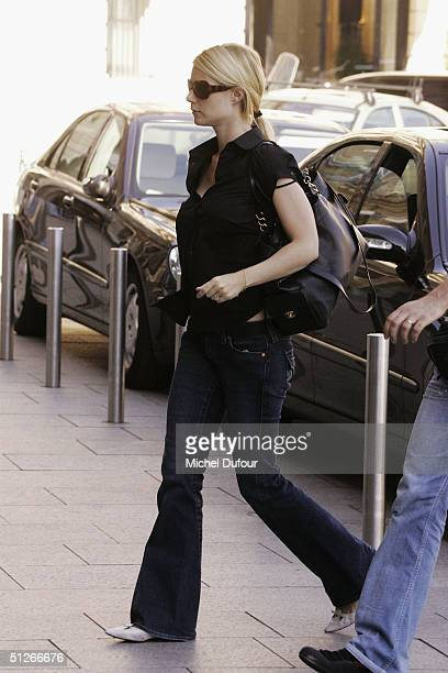 Actress Gwyneth Paltrow leaves the restaurant 'Chez Thiou' after a lunch date September 6 2004 in Paris France
