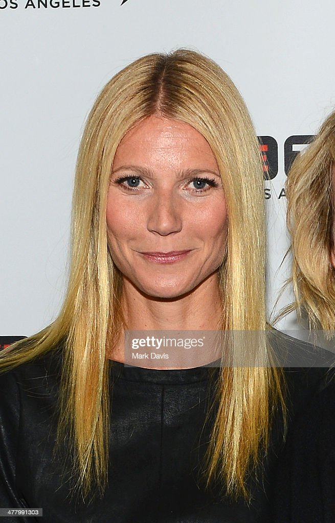 Actress Gwyneth Paltrow poses at the 'Live Talks Los Angeles Presents An Evening With Chelsea Handler In Conversation With Gwyneth Paltrow' held at the Alex Theatre on March 11, 2014 in Glendale, California.