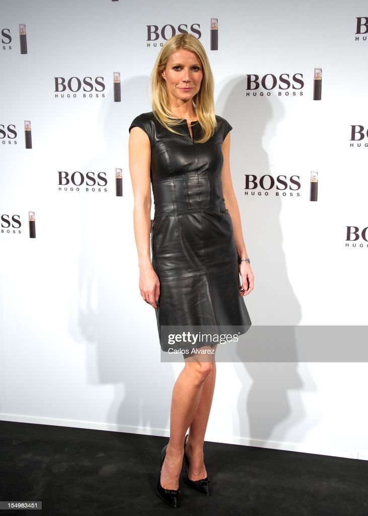 Actress <a gi-track='captionPersonalityLinkClicked' href=/galleries/search?phrase=Gwyneth+Paltrow&family=editorial&specificpeople=171431 ng-click='$event.stopPropagation()'>Gwyneth Paltrow</a> presents the new 'Boss Nuit Pour Femme' Hugo Boss parfum at the Neptuno Palace on October 29, 2012 in Madrid, Spain.