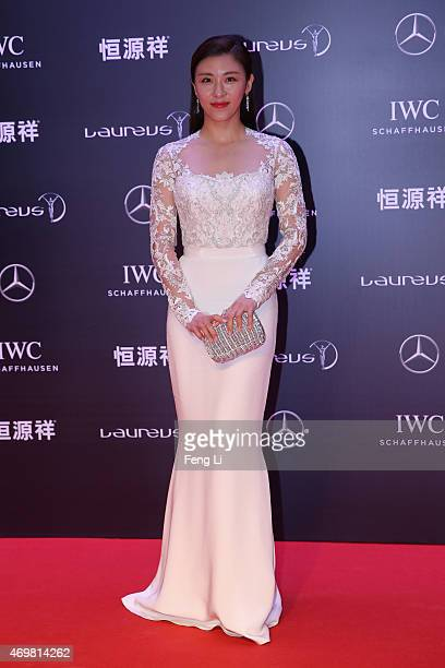 Actress Ha Jiwon attends the 2015 Laureus World Sports Awards at Shanghai Grand Theatre on April 15 2015 in Shanghai China