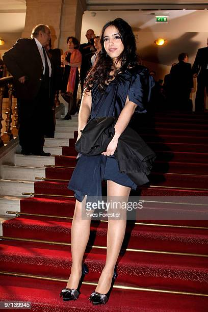 Actress Hafsia Herzi attends the 35th Cesar Film Awards held at Theatre du Chatelet on February 27 2010 in Paris France