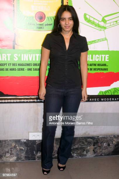 Actress Hafsia Herzi attends 'When Advertising is inviting Art' Party at Palais De Tokyo on November 10 2009 in Paris France