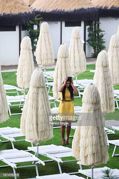 Actress Hafsia Herzi from the film 'Inheritance' poses during the 69th Venice Film Festival at the Venice Days on September 5 2012 in Venice Italy