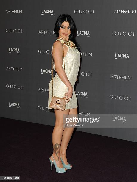 Actress Haifa Wehbe arrives at LACMA 2012 Art Film Gala at LACMA on October 27 2012 in Los Angeles California