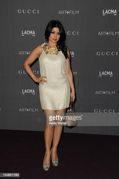 Actress Haifa Wehbe arrives at LACMA Art Gala at LACMA on October 27 2012 in Los Angeles California