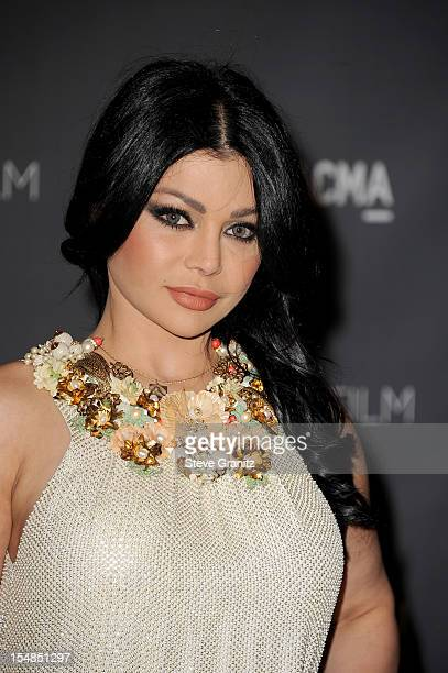 Actress Haifa Wehbe arrives at LACMA Art Gala at LACMA on October 27 2012 in Los Angeles California