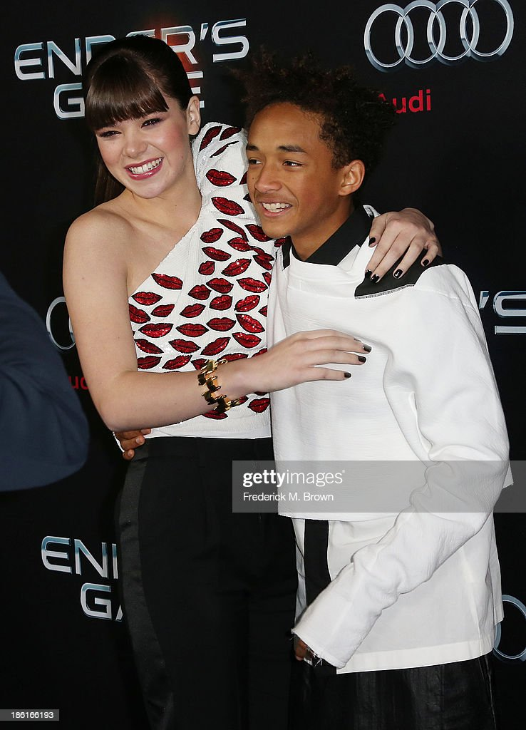 Actress Hailee Steinfeld (L) and actor Jaden Smith attend the Premiere of Summit Entertainment's 'Ender's Game' at the TCL Chinese Theatre on October 28, 2013 in Hollywood, California.