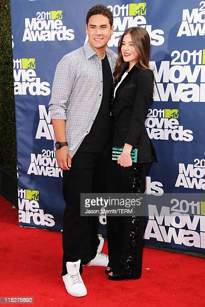 Actress Hailee Steinfeld and brother Griffin Steinfeld arrive at the 2011 MTV Movie Awards at Universal Studios' Gibson Amphitheatre on June 5 2011...