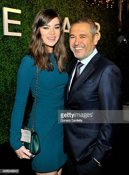 Actress Hailee Steinfeld and designer Elie Saab attends a private Elie Saab dinner on November 13 2014 in Los Angeles California #ElieSaabLA