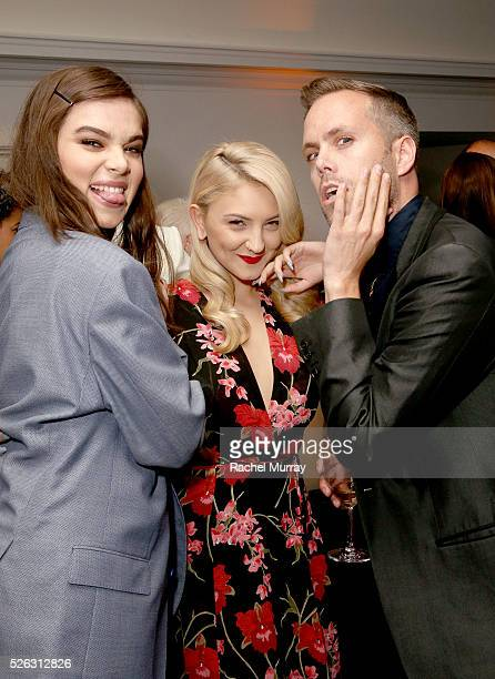 Actress Hailee Steinfeld and honorees Julia Michaels and Justin Tranter attend the First Annual 'Girls To The Front' event benefiting Girls Rock Camp...
