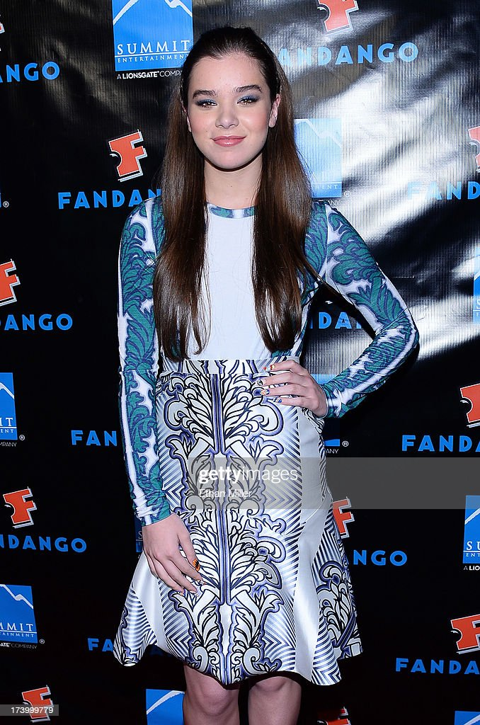 Actress Hailee Steinfeld arrives at Summit Entertainment's press event for the movies 'Ender's Game' and 'Divergent' at the Hard Rock Hotel San Diego on July 18, 2013 in San Diego, California.