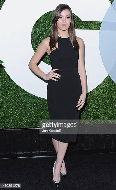 Actress Hailee Steinfeld arrives at the 2014 GQ Men Of The Year Party at Chateau Marmont on December 4 2014 in Los Angeles California