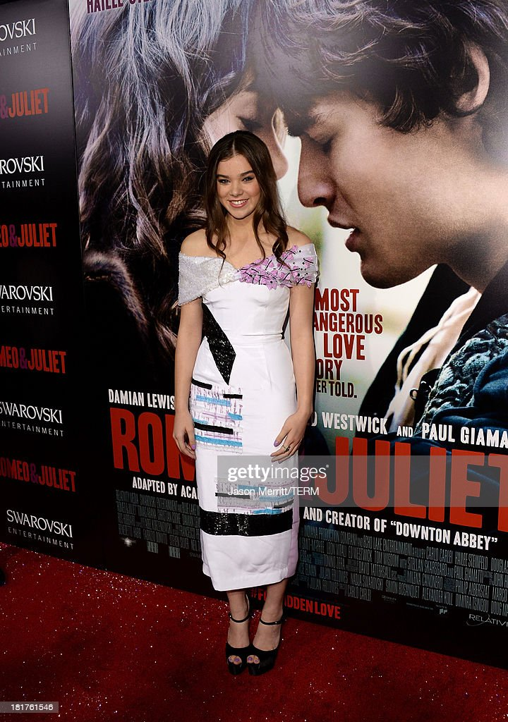 Actress Hailee Steinfeld arrives at the premiere of Relativity Media's 'Romeo & Juliet' at ArcLight Hollywood on September 24, 2013 in Hollywood, California.
