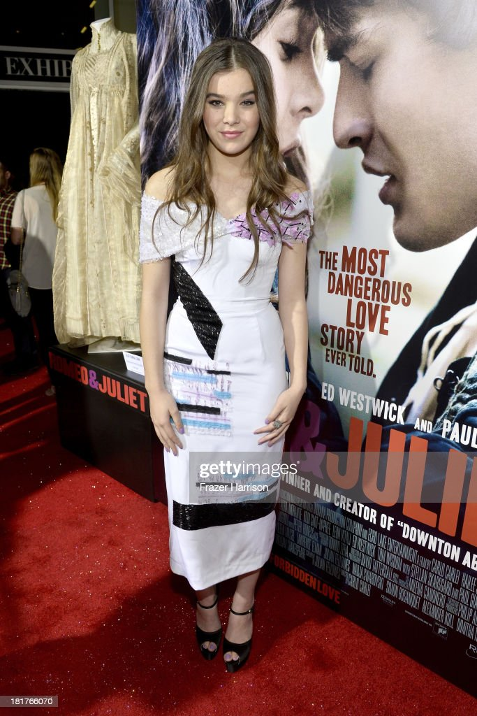 Actress Hailee Steinfeld arrives at the premiere of Relativity Media's 'Romeo And Juliet' at ArcLight Cinemas on September 24, 2013 in Hollywood, California.