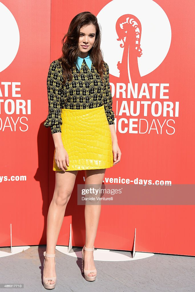 Actress Hailee Steinfeld attends a photocall for 'Women's Tales' during the 72nd Venice Film Festival on September 3 2015 in Venice Italy