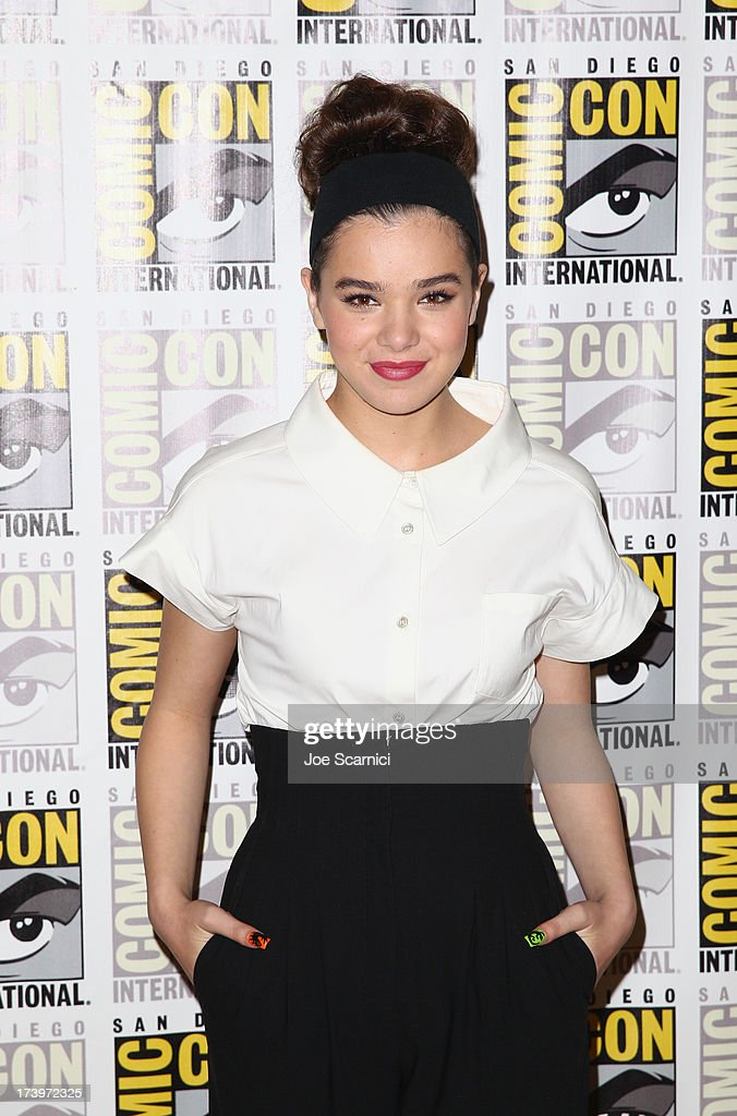 Actress Hailee Steinfeld attends 'Ender's Game' Comic-Con Press Line at San Diego Convention Center on July 18, 2013 in San Diego, California.