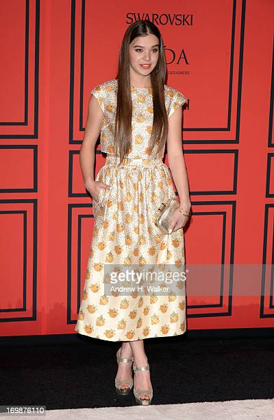 Actress Hailee Steinfeld attends the 2013 CFDA Fashion Awards on June 3 2013 in New York United States
