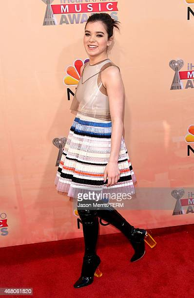 Actress Hailee Steinfeld attends the 2015 iHeartRadio Music Awards which broadcasted live on NBC from The Shrine Auditorium on March 29 2015 in Los...