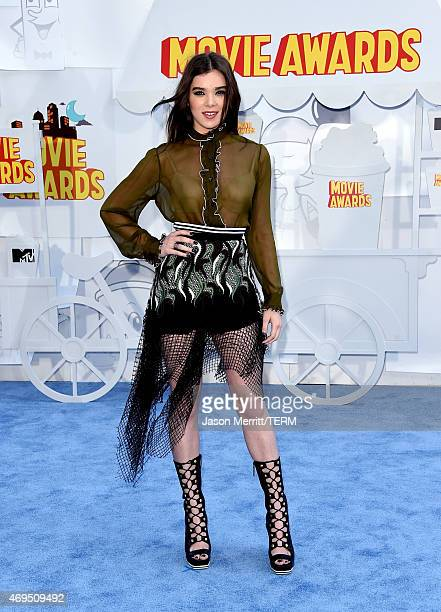 Actress Hailee Steinfeld attends The 2015 MTV Movie Awards at Nokia Theatre LA Live on April 12 2015 in Los Angeles California