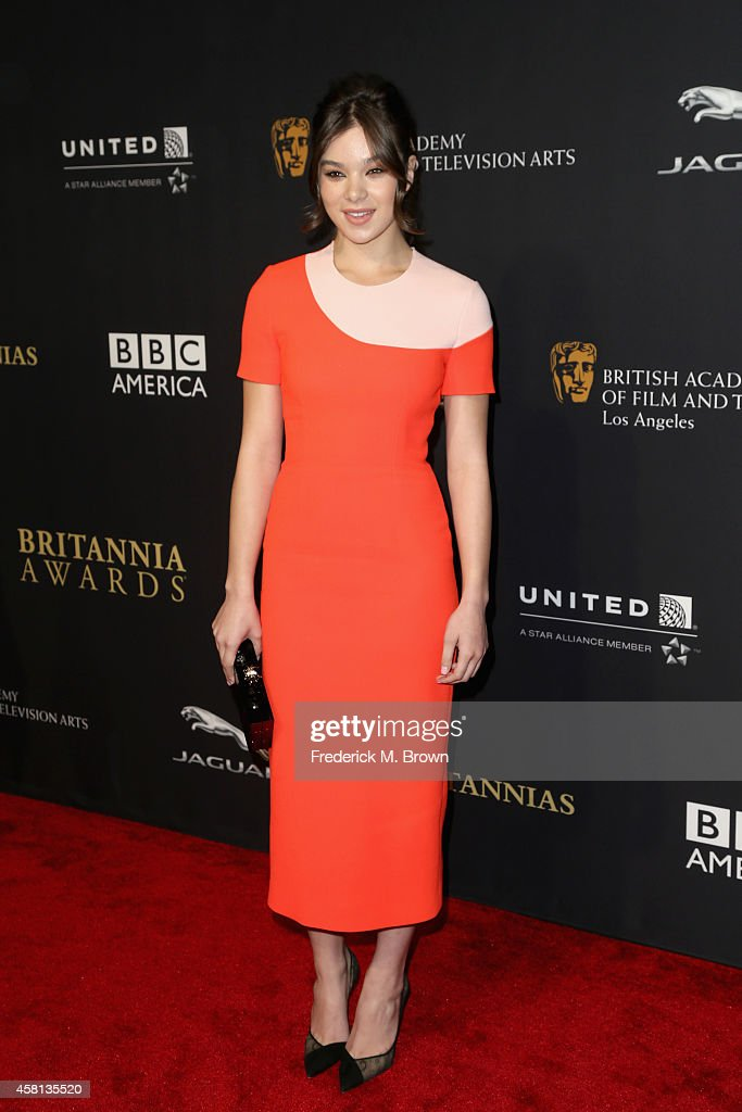 Actress Hailee Steinfeld attends the BAFTA Los Angeles Jaguar Britannia Awards presented by BBC America and United Airlines at The Beverly Hilton Hotel on October 30, 2014 in Beverly Hills, California.