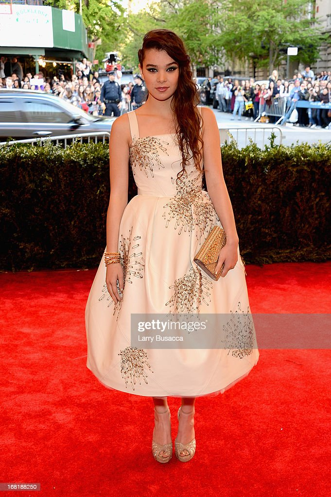 Actress Hailee Steinfeld attends the Costume Institute Gala for the 'PUNK: Chaos to Couture' exhibition at the Metropolitan Museum of Art on May 6, 2013 in New York City.