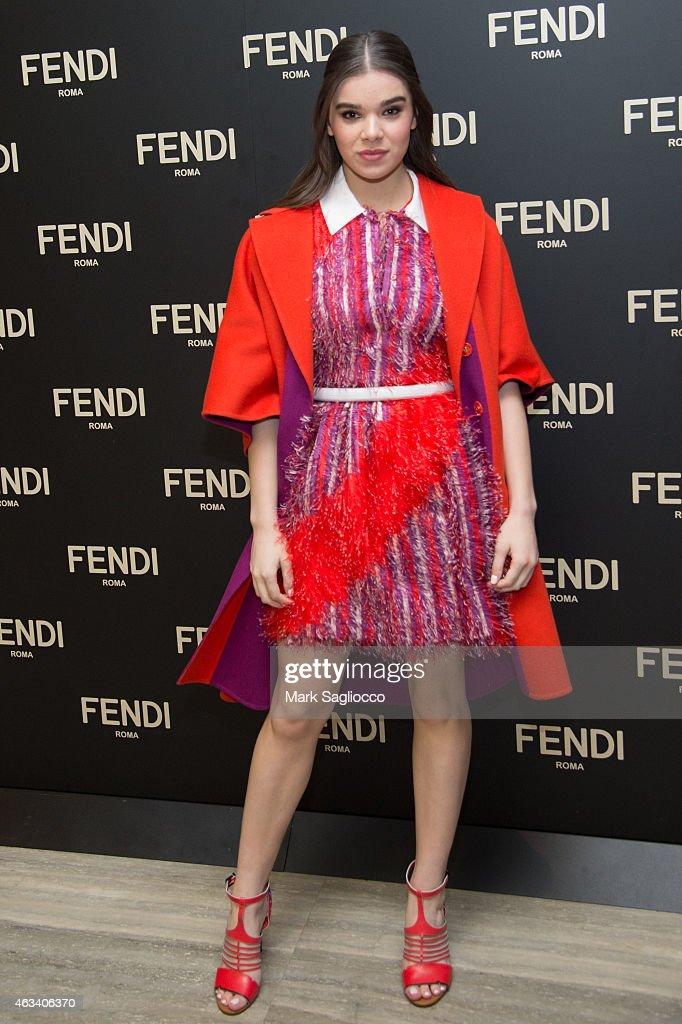 Actress Hailee Steinfeld attends the Fendi Flagship Store Opening Celebration Dinner at the Park Hyatt New York on February 13 2015 in New York City