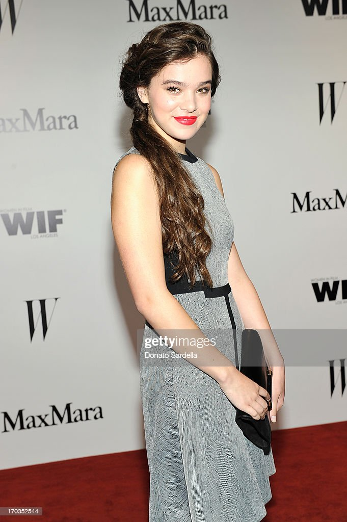 Actress Hailee Steinfeld attends the Max Mara and W Magazine cocktail party to honor the Women In Film Max Mara Face of the Future Awards recipient Hailee Steinfeld at Beverly Hills Hotel on June 11, 2013 in Beverly Hills, California.