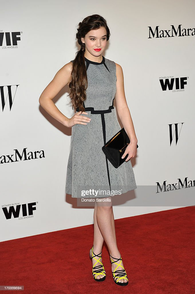 Actress <a gi-track='captionPersonalityLinkClicked' href=/galleries/search?phrase=Hailee+Steinfeld&family=editorial&specificpeople=7223409 ng-click='$event.stopPropagation()'>Hailee Steinfeld</a> attends the Max Mara and W Magazine cocktail party to honor the Women In Film Max Mara Face of the Future Awards recipient <a gi-track='captionPersonalityLinkClicked' href=/galleries/search?phrase=Hailee+Steinfeld&family=editorial&specificpeople=7223409 ng-click='$event.stopPropagation()'>Hailee Steinfeld</a> at Beverly Hills Hotel on June 11, 2013 in Beverly Hills, California.