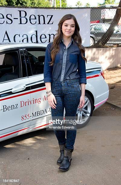 Actress Hailee Steinfeld attends the MercedesBenz Driving Academy KicksOff National Teen Driver Safety Week at Fairfax High School on October 15 2012...