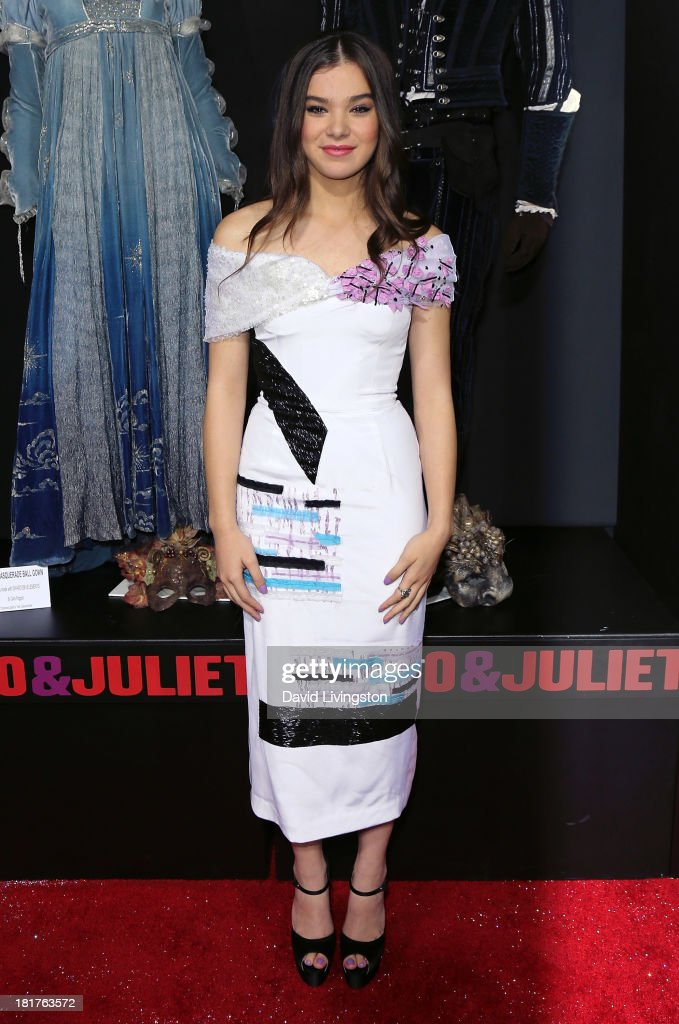 Actress Hailee Steinfeld attends the premiere of Relativity Media's 'Romeo & Juliet' at ArcLight Hollywood on September 24, 2013 in Hollywood, California.