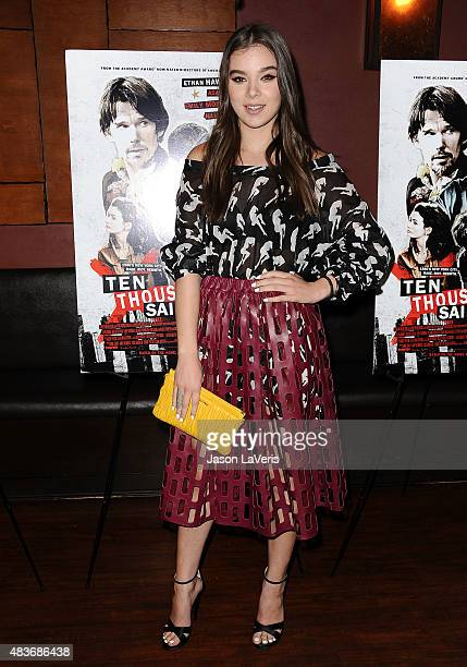 Actress Hailee Steinfeld attends the premiere of 'Ten Thousand Saints' at Piknic on August 11 2015 in Century City California