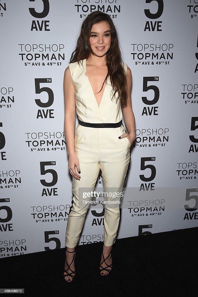 Actress Hailee Steinfeld attends the Topshop Topman New York City flagship opening dinner at Grand Central Terminal on November 4 2014 in New York...