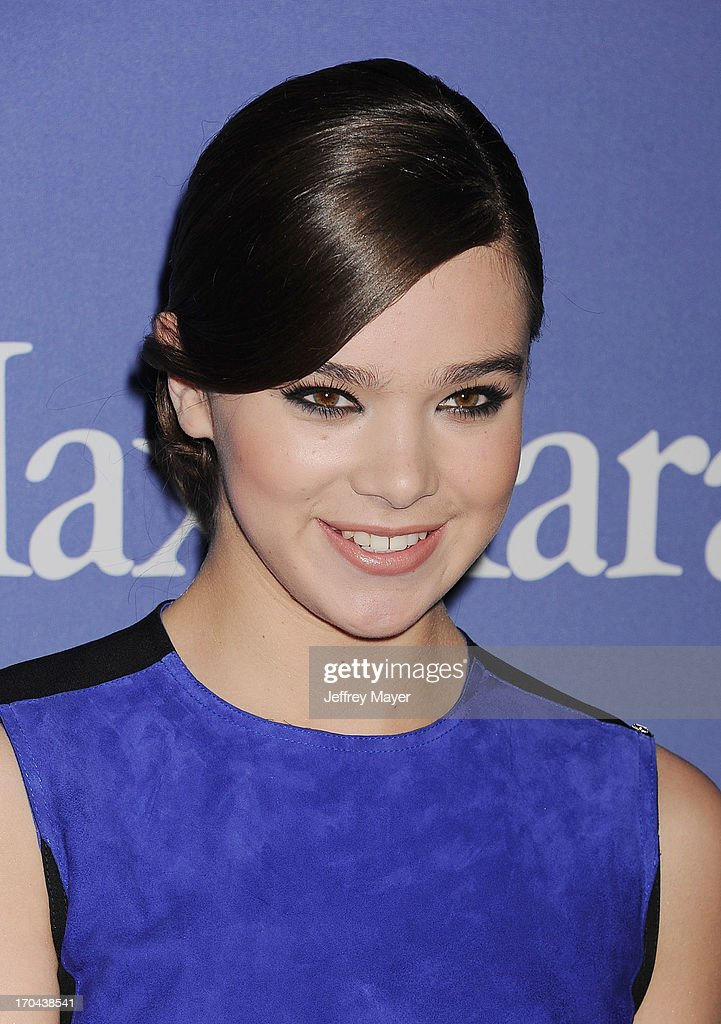 Actress <a gi-track='captionPersonalityLinkClicked' href=/galleries/search?phrase=Hailee+Steinfeld&family=editorial&specificpeople=7223409 ng-click='$event.stopPropagation()'>Hailee Steinfeld</a> attends Women In Film's 2013 Crystal + Lucy Awards at The Beverly Hilton Hotel on June 12, 2013 in Beverly Hills, California.