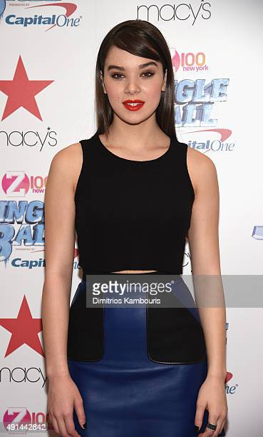 Actress Hailee Steinfeld attends Z100's Jingle Ball Presented by Capital One Official Kick Off Event at Macy's Herald Square on October 5 2015 in New...
