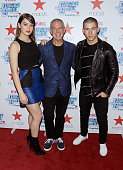 Actress Hailee Steinfeld radio personality Elvis Duran and singer Nick Jonas attend the Z100's Jingle Ball 2015 kick off event at Macy's Herald...