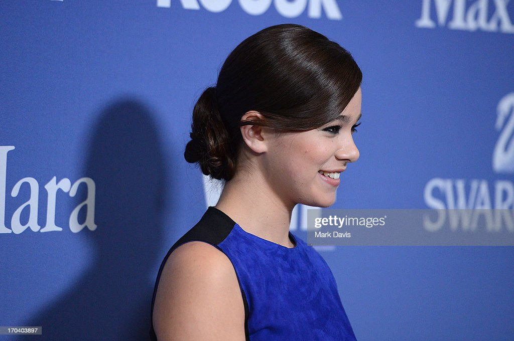 Actress Hailee Steinfeld, recipient of The 2013 Women In Film Max Mara Face of the Future Award, attends Women In Film's 2013 Crystal + Lucy Awards at The Beverly Hilton Hotel on June 12, 2013 in Beverly Hills, California.