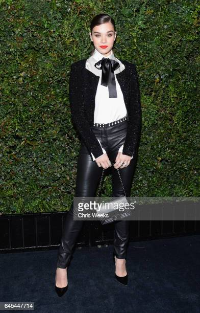 Actress Hailee Steinfeld wearing CHANEL attends the Charles Finch and CHANEL PreOscar Awards Dinner at Madeo Restaurant on February 25 2017 in...