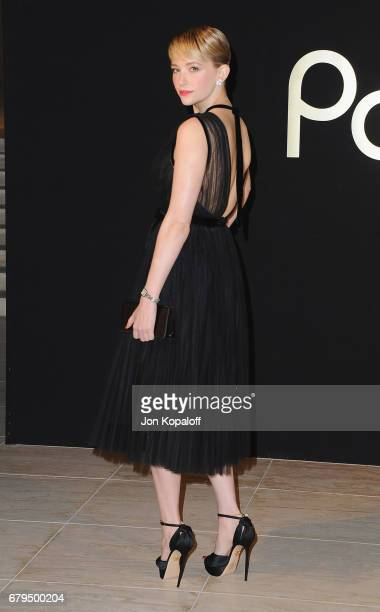 Actress Haley Bennett arrives at the Panthere De Cartier Party In LA at Milk Studios on May 5 2017 in Los Angeles California