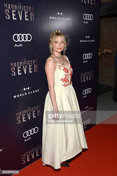 Actress Haley Bennett attends 'The Magnificent 7' premiere screening party hosted by Bulleit at Storys Building on September 8 2016 in Toronto Canada