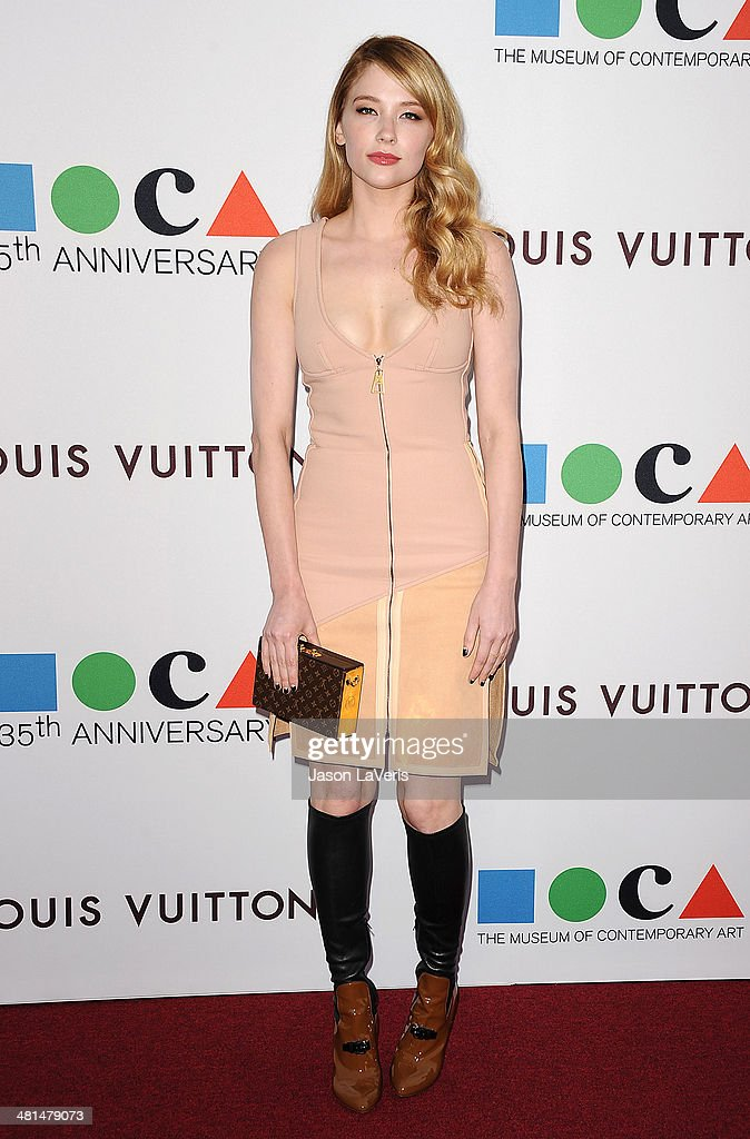Actress <a gi-track='captionPersonalityLinkClicked' href=/galleries/search?phrase=Haley+Bennett&family=editorial&specificpeople=2308488 ng-click='$event.stopPropagation()'>Haley Bennett</a> attends the MOCA 35th anniversary gala celebration at The Geffen Contemporary at MOCA on March 29, 2014 in Los Angeles, California.