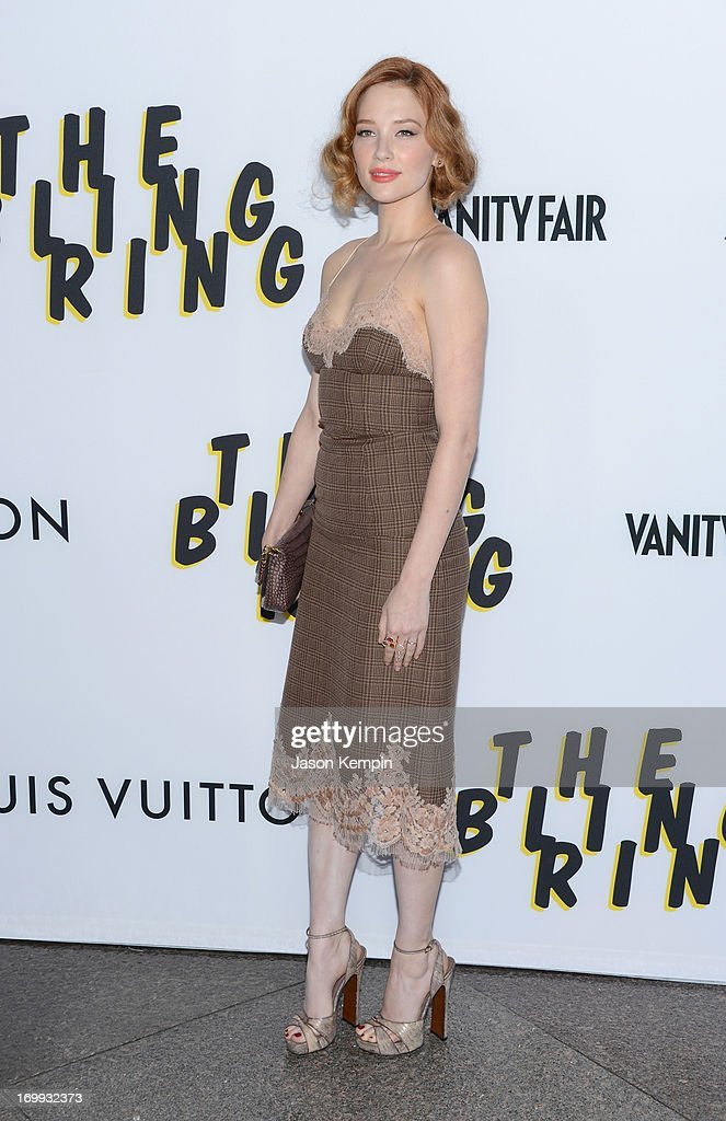 Actress <a gi-track='captionPersonalityLinkClicked' href=/galleries/search?phrase=Haley+Bennett&family=editorial&specificpeople=2308488 ng-click='$event.stopPropagation()'>Haley Bennett</a> attends the premiere of A24's 'The Bling Ring' at Directors Guild Of America on June 4, 2013 in Los Angeles, California.