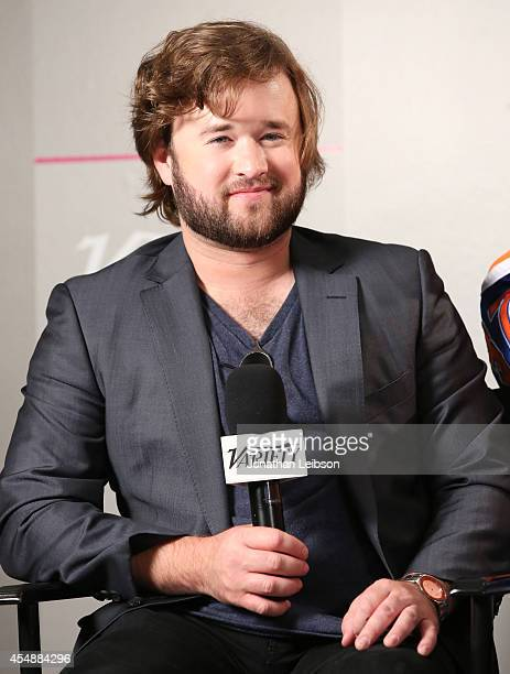 Actress Haley Joel Osment attends the Variety Studio presented by Moroccanoil at Holt Renfrew during the 2014 Toronto International Film Festival on...
