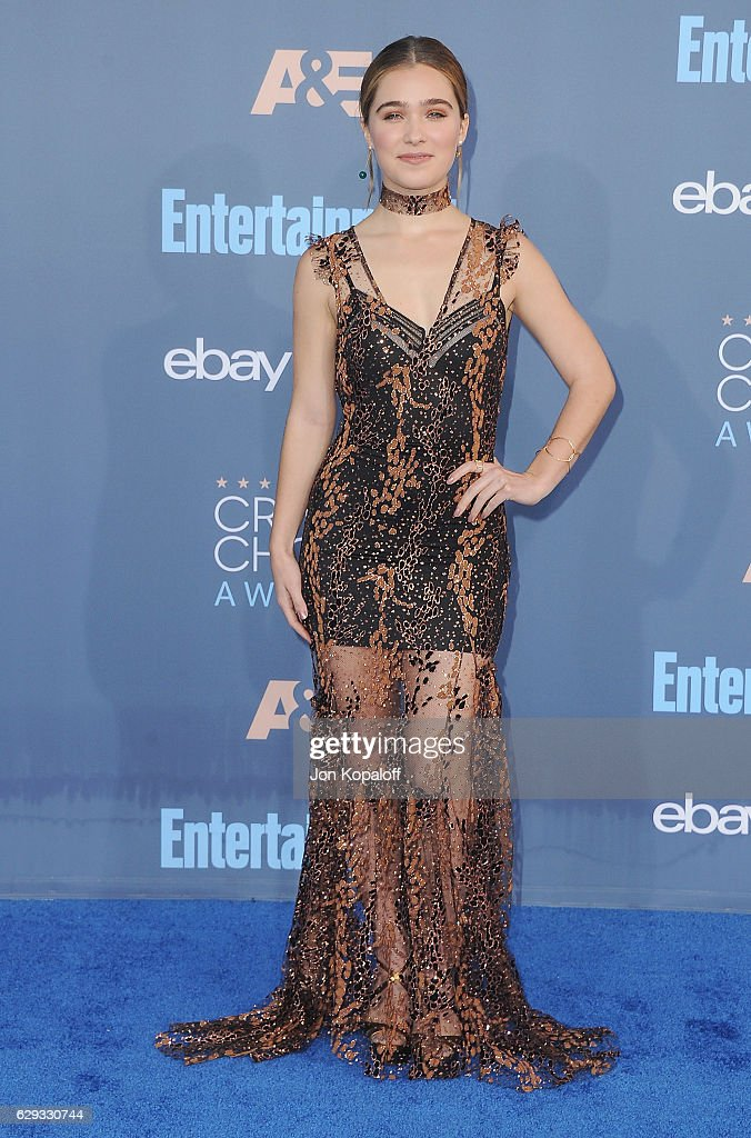 Actress Haley Lu Richardson arrives at The 22nd Annual Critics' Choice Awards at Barker Hangar on December 11, 2016 in Santa Monica, California.