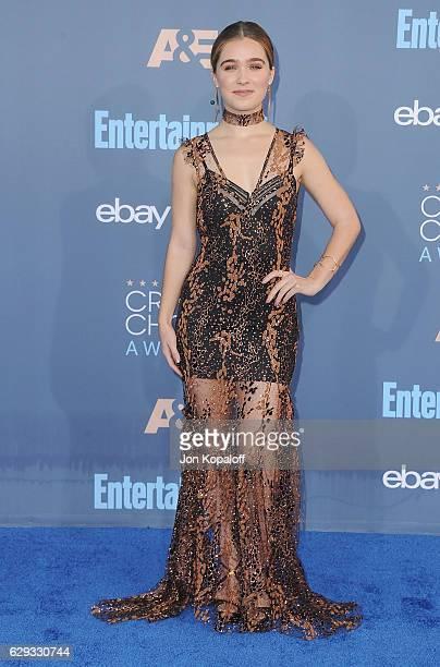 Actress Haley Lu Richardson arrives at The 22nd Annual Critics' Choice Awards at Barker Hangar on December 11 2016 in Santa Monica California