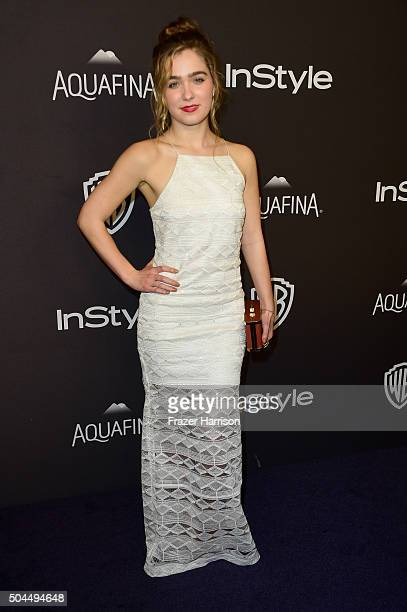 Actress Haley Lu Richardson attends InStyle and Warner Bros 73rd Annual Golden Globe Awards PostParty at The Beverly Hilton Hotel on January 10 2016...