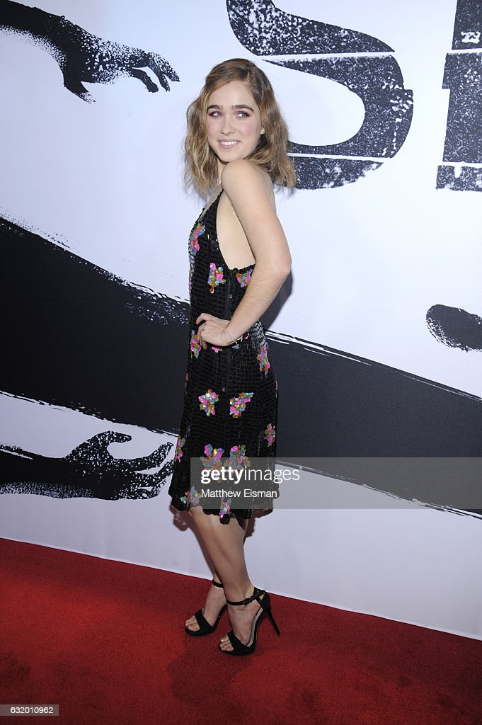 Actress Haley Lu Richardson attends 'Split' New York Premiere at SVA Theater on January 18, 2017 in New York City.