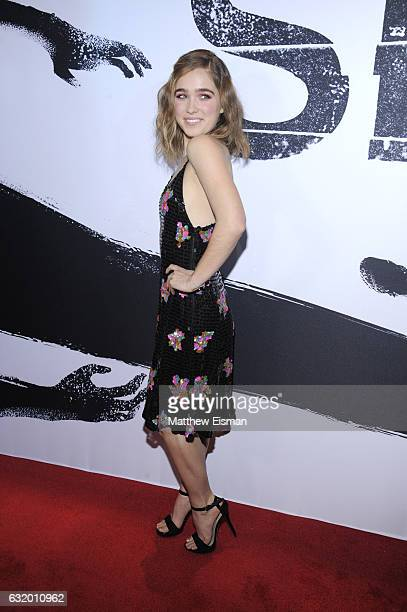 Actress Haley Lu Richardson attends 'Split' New York Premiere at SVA Theater on January 18 2017 in New York City