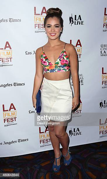 Actress Haley Lu Richardson attends the 2014 Los Angeles Film Festival screening of 'The Young Kieslowski' at Regal Cinemas LA Live on June 14 2014...