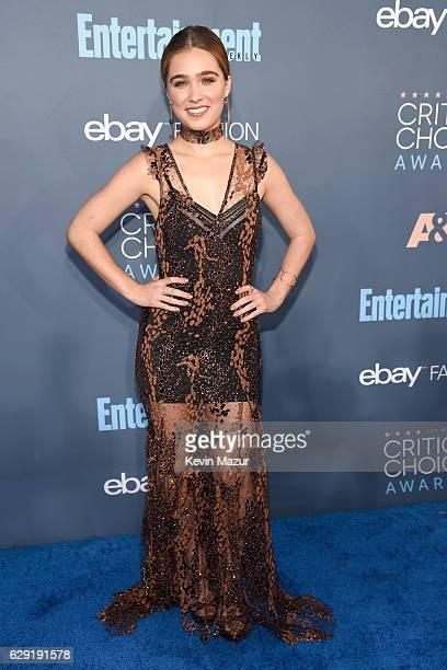 Actress Haley Lu Richardson attends The 22nd Annual Critics' Choice Awards at Barker Hangar on December 11 2016 in Santa Monica California