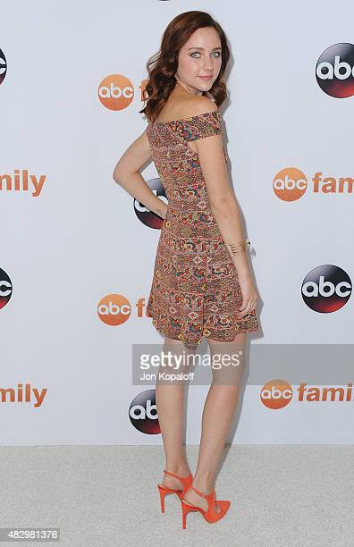 Actress Haley Ramm arrives at Disney ABC Television Group's 2015 TCA Summer Press Tour at the Beverly Hilton Hotel on August 4 2015 in Beverly Hills...